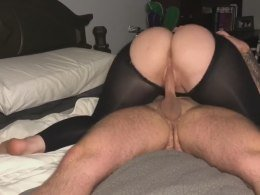 Thick step sister shows off her dick riding techniques