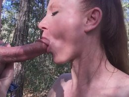 MILF dicked outdoors