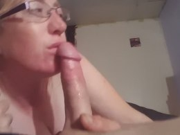 Horny milf enjoys friend's fat dick on the bed until he cum