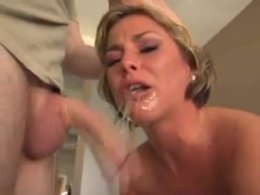 Blond Wife Gets Face Fucked And Takes Big Cum Load On Her Face