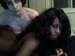 Teen boy is paying some black whore to fuck with him