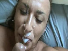 Mature Sexy Chick Sucks Dick Between Tits and Gets Facial