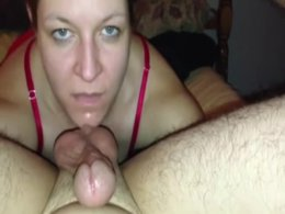 Mature momma loves licking, sucking, and rubbing cock on her boobs