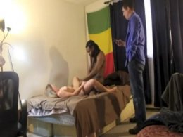 Husband filming his wife getting banged by black stud