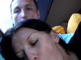 Nasty gf gives me awesome blowjob in the bus