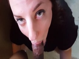 Massive black love rod wrapped by luscious wet rosy lips