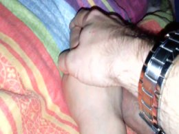 Fucking my sleeping wife's hand without her even knowing it