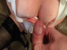 Wife gets a big cumshot after a hot doggy style