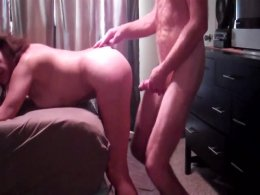 Submissive milf takes a big hard cock deep in the pussy