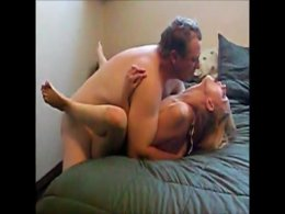 Mature stud fucks a moaning blond and cums in her mouth
