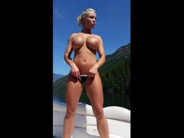 Fit blonde milf gets fucked and jizzed on a boat