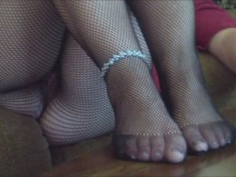 Wife bought some fishnet stockings to drive me totally crazy