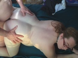 Bisexual old guy fucking my fat wife in the pussy