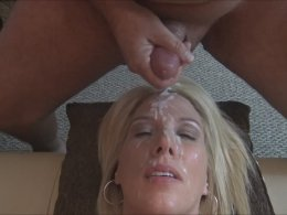 Huge Sloppy Facial For A Beautiful Blonde Chick