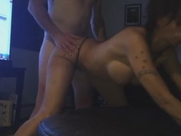 Slutty Wife Got Fucked In A Doggy While Giving A Blow