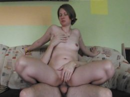 Hungarian Wife Rides Her Man And Eats His Pole