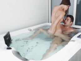 Desirable Brunette Girlfriend Sucks Dick and Gets Fucked in a Jacuzzi