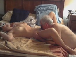 Older Couple Filmed Their First Homemade In The Bedroom