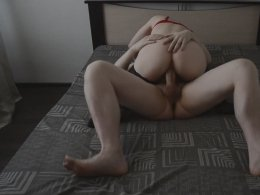Babe Riding A Hard Cock After Massaging It Orally