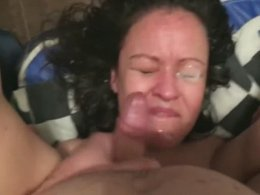 Horny GF Is Sucking And Receiving A Nice Facial
