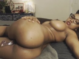 Spread Black Chick Is Playing With Her Sex Toy