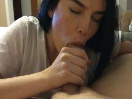 Giving a handjob and a blowjob to a boyfriend