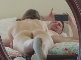 Hot wife Julia making her man very happy