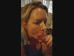 Amateur wife using two hands and her mouth on this rod