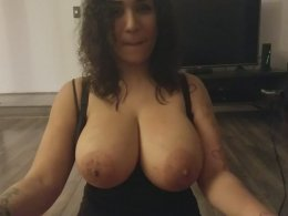 Amateur wife with huge tits sucking a johnson